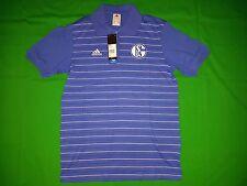 adidas S04 Schalke Königsblau Polo Shirt Trikot Herren Men G83125 Gr. s
