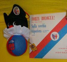 BALLY MASCOTTE '80 & FORZA BOLOGNA FC '60 INNO 45giri STADIO CALCIO ROSSO BLU BO
