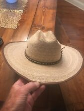 Resistol 7 1/8 Genuine Mexican Palm Cowboy Hat Made In USA. Brush Hog.