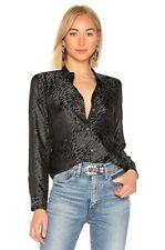 EQUIPMENT Femme $189 Essential Silk Blend Leopard Shirt Top Size Small