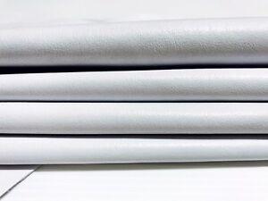 Italian soft Lambskin Leather skins PREMIUM WHITE  6 hides total 40sqf