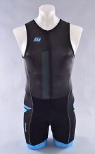 StageOne Pro Tri Suit Men's Xs Black Blue Sleeveless Triathlon
