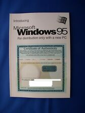 Introducing Microsoft Windows 95 Booklet OEM - no media