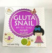 Gluta Snail White belleza Blanqueamiento de la piel jabón glutatión con Caracol moco 60 G