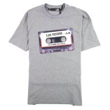 Love Moschino Cassette Print Logo Men's Grey T-Shirt Size L