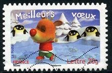 TIMBRE DE FRANCE  OBLITERE N° 3989 / AUTOADHESIF N° 100 MEILLEURS VOEUX