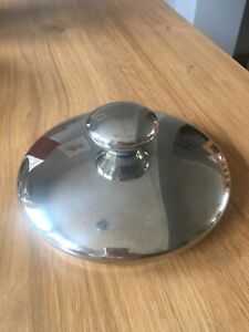 """Cooks Essentials 6"""" Pot Lid Replacement Stainless Steel QVC"""