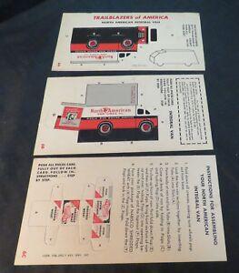 VTG 6A-C Trailblazers of America Punch Cards, Shredded Wheat, Original/Unpunched