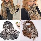 New Fashion Women's Long Soft Wrap Lady Shawl Silk Leopard Chiffon Scarf Shawl