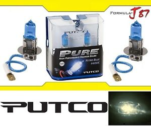 Putco 4400K Nitro Blue H3 230003NB 55W Two Bulbs Fog Light Replacement Plug Play