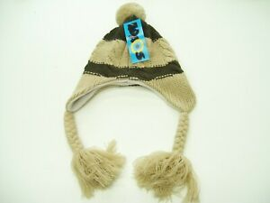 KAOS CABLE KNIT BEANIE WINTER BOYS GIRLS KIDS SNOWBOARDING SKIING ONE SIZE