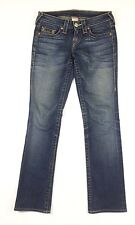 "TRUE RELIGION Womens Jeans ""Johnny"" Blue 5 Pockets Straight Leg Size 26"