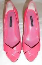 Patrizia Pepe Firenze Italy Decollete Fuchsia Hot Pink Pumps Heels Shoes,SZ 38/8