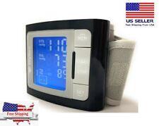 FDA Wrist Blood Pressure Monitor BP Cuff Heat Rate Care Machine Meter Test
