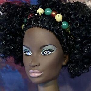Integrity Janay AA Black Fashion Doll Dressed w Afro & Blue Eyes ⭐️
