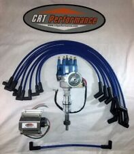 Small Block Ford 302 289 Blue Small Hei Distributor + 60K Coil + Plug Wires Blue
