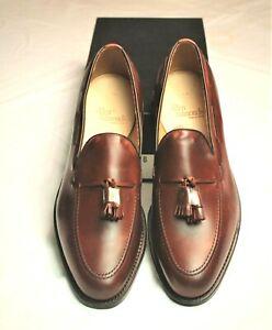 New Allen Edmonds Grayson Chili Brown Leather Men's Shoes 11.5 B