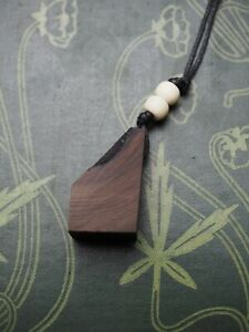 Ancient Irish Bog Yew Wood Pendant - for the Dark Goddess  - Pagan, Witchcraft