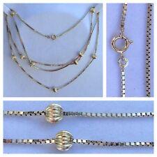 cadena larga con bola 333ER Oro Cadena de Oro Joya De Oro Collar de oro 91,5 cm