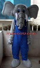 New Professional Elephant ADULT SIZE CARTOON SUIT MASCOT COSTUME
