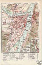 KOBLENZ  Ehrenbreitstein  Festungen STADTPLAN um 1905