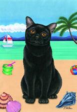 Beach Garden Flag - Black Cat 64011