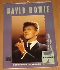 Calendrier mural David Bowie 1987 calendar très rare