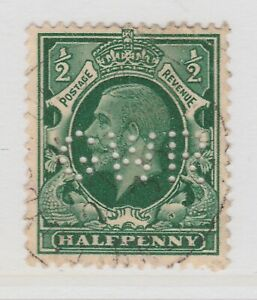 Perfin on Great Britain Used Stamp A22P16F8727