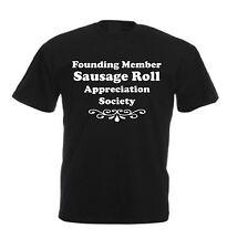 SAUSAGE ROLL APPRECIATION SOCIETY T-SHIRT Funny Christmas Birthday Gift Idea