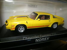 1:43 Norev Chevrolet Camaro Z28 1980 yellow with red/orange stripping in OVP