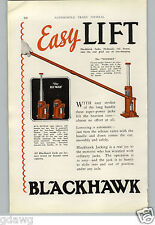 1927 PAPER AD 2 PG Blackhawk Car Automobile Jack Hi High Lift Jacks Hydraulic