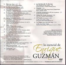 rare DVD slip PROMO ONLY balada ENRIQUE GUZMAN tu voz TU CABEZA EN MI HOMBRO