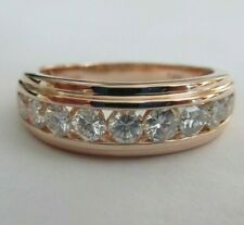 14K Rose Gold Diamond Wedding Band Diamond=1.50 Carats D-VS2  Value=$7,950