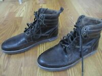 US 11 Bed/stu Men's Shoes Boot high top leather shoe brown rustic distressed