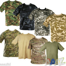 4e847fa5ce59 MENS MILITARY CAMOUFLAGE CAMO T SHIRT ARMY COMBAT COTTON T-SHIRT