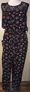 CITY CHIC Floral Pantsuit / Jumpsuit  Size M 18