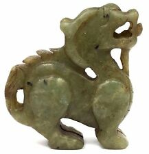 Late 1400s Ancient Shipwreck Carved Jade Sea Monster Decorative Sculpture + COA