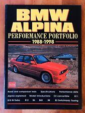 BMW Alpina Performance Portfolio -  Brooklands Books