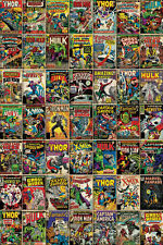 MARVEL COMIC COVERS COLLAGE HULK POSTER (61x91cm)  PICTURE PRINT NEW ART