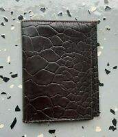 Vintage 1960s Turtle Cowhide Leather Men's Bifold Wallet