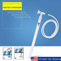 Gravel Cleaner quarium Fish Tank utomatic Siphon Vacuum Water Change Filter  US