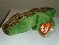 Ty Beanie Baby - ALLY the Alligator (Canada Tags)(8.5 Inch) MINT with MINT TAGS