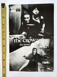 VINTAGE 1994 THE CROW MOVIE PROMO PREMIERE PROGRAM - BRANDON LEE COMIC BOOK FILM