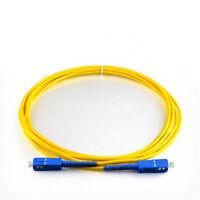 3 Meter SC–SC Fiber Optic Cable HQ New SingleMode Duplex Patch Cord 1310-1550nm
