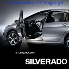 2x Logo Ghost Shadow Car Door LED Projector Lights for Chevrolet Silverado