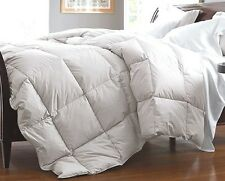 Queen White Down Feather Comforter Bedding Blanket Heavy Fill Baffle Box 75oz FP