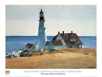 Edward Hopper Lighthouse and Buildings Poster Kunstdruck Bild 60x80cm