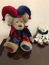 Boyds Bears Plush Mr McFarkle And Gadget Joker/Jester And Clown Bear Lot Of 2