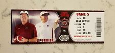 Carolina Gamecocks Florida Gators Football Ticket 11/16 2013 Steve Spurrier Stub