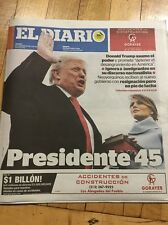 EL DIARIO NEWSPAPER IN SPANISH 1/21 DONALD TRUMP & MELANIA INAUGURATION